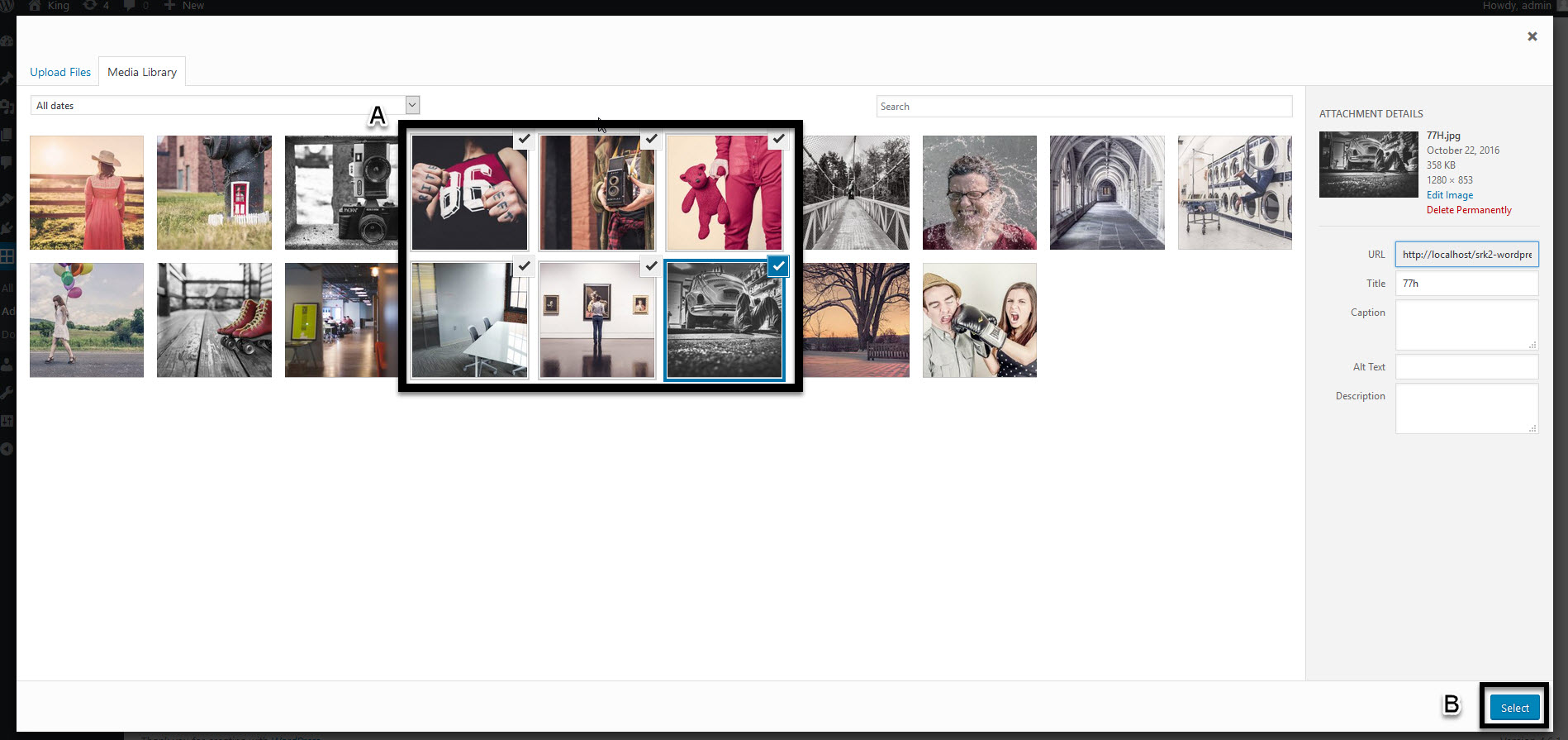 Selecting Images for Grid Gallery