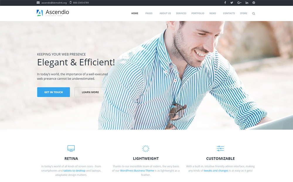 Businessman-WP-Template