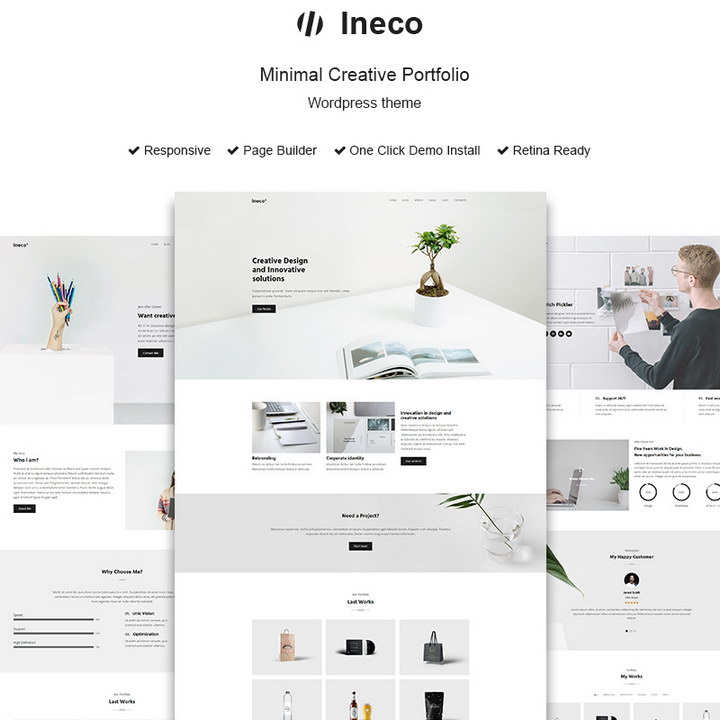 Ineco - Minimal Creative Portfolio WordPress Theme