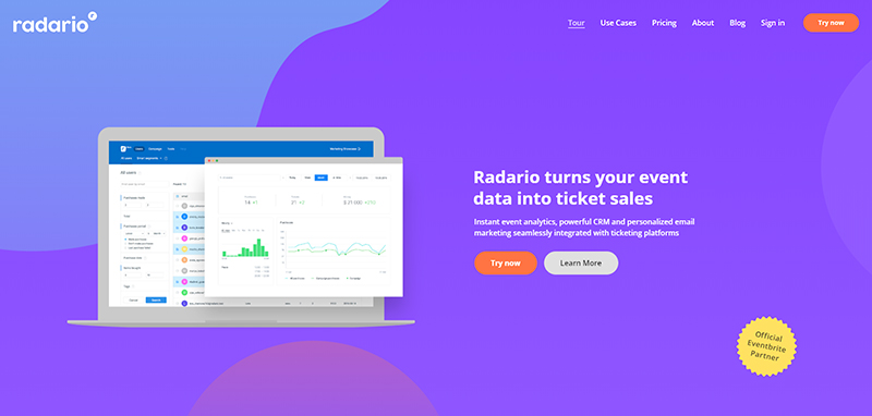 Radario website