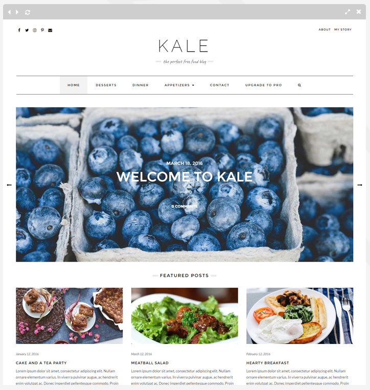 Kale Food Theme
