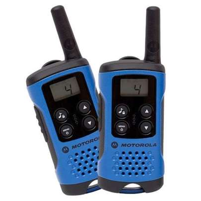 Motorola TLKR T41 Blue Walkie Talkie Radio Twin Pack Intercom Systems Intercom Systems