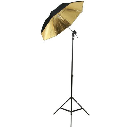 Fancier Detached Umbrella Ur05 43″ Blk/Sil/Wht Lighting Fancier