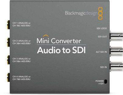 Blackmagic Design Audio to SDI Mini Converter2 CONVMCAUDS2 Pro Video audio