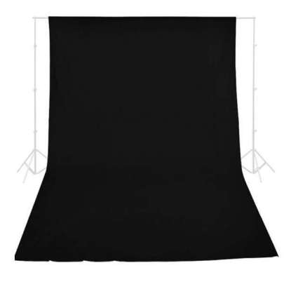 Promage  Backdrop 3*6M Black Color Background Materials & Equipment Cabel & Accessories