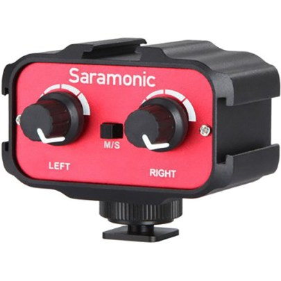 Saramonic SR-AX100 Passive 2-Channel Audio Adapter for DSLR Cameras Field Mixers, Preamps & Accessories audio