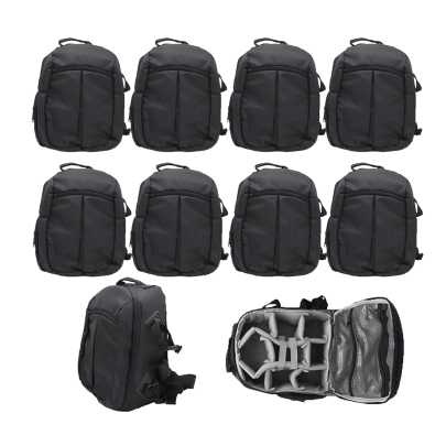 Solibag Slr Camera Travel Backpack Waterproof Carry Bag For Canon, Nikon, Sony, Pentax Black Shoulder Case -7001 Pack Of 10Pcs Backpacks Camera Bags