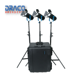 Dracast Boltray Plus 600 Bi-Color 3 Light Kit with Dual NP-F Battery Plates and Injection Molded Travel Case Kit Lights Draco Broadcast