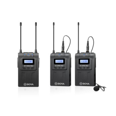 BOYA BY-WM8 Pro-K2 UHF Dual-Channel Wireless Lavalier System (576.4 to 599.9 MHz, 568.6 to 592 MHz) Pro Audio audio