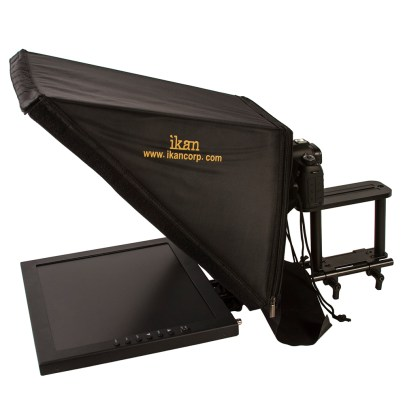 Ikan 17″ TELEPROMPTER WITH 17″ MONITOR FOR LOCATION AND STUDIO uncategorized Ikan