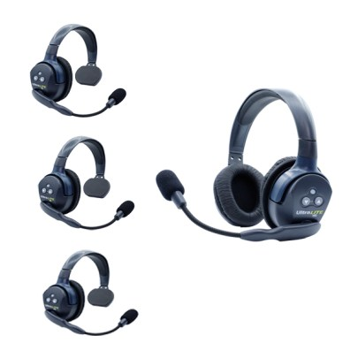 Eartec UL431 Ultralite HD 4 Pers. System W/ 3 Single & 1 Double Headsets Intercom Systems [tag]