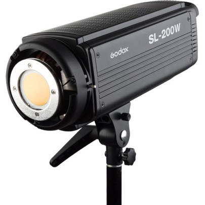 Godox SL-200 LED Video Light (Daylight-Balanced) Continuous Lighting Camera Flashes