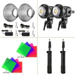 GVM LS-P80S LED 2-Light Kit with Filters Continuous Lighting GVM