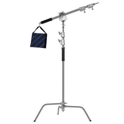 GVM C360 Turtle Base C-Stand and Cross Arm Boom Kit (10.5′) Light Stands GVM
