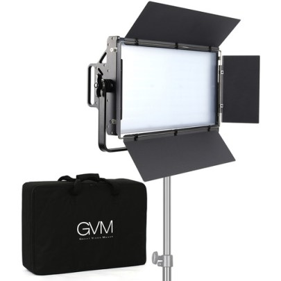 GVM 110S RGB LED Studio Video Light Panel Continuous Lighting GVM