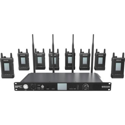 Hollyland Syscom 1000T-8B Full-Duplex Intercom System with Eight Beltpacks and Headsets Communications & IFB Hollyland