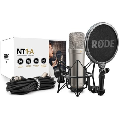 Rode NT1-A Large-Diaphragm Condenser Microphone (Single) Large Diaphragm Recording Microphones Rode