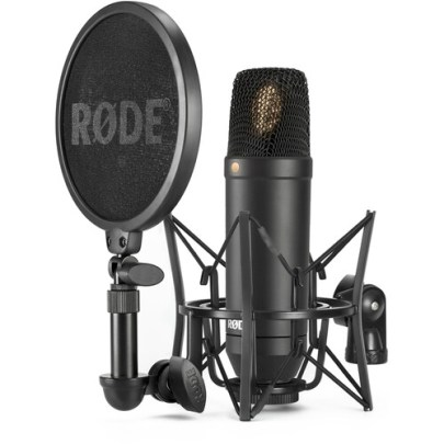 Rode NT-1 KIT 1″ Cardioid Condenser Microphone with SM6 Shockmount Large Diaphragm Recording Microphones Rode