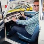 AWR Autoweltrevue Herausgeber Bernd Schweickard im Opel Astra K Urahn Kadett A