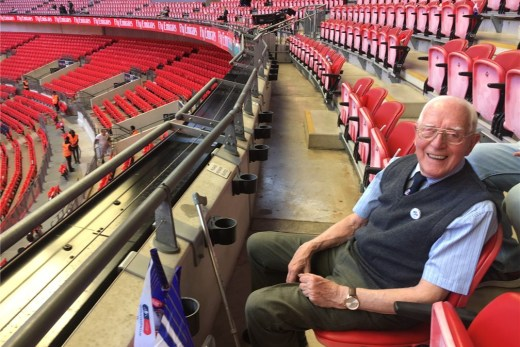 91-year-old super fan George W Forster