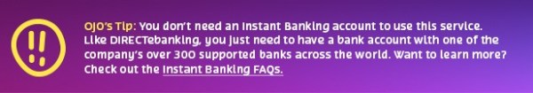 instant banking tip