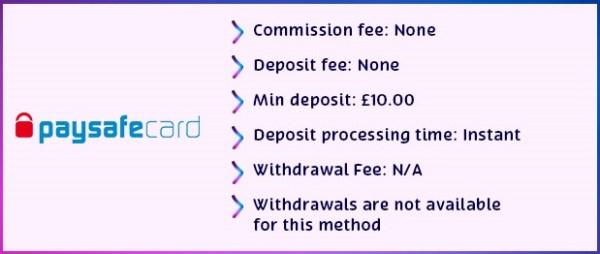 paysafcard details