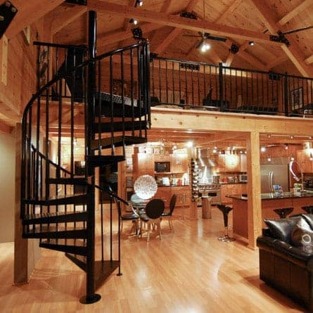 Loft Spiral Staircases 5 000 Design Options Paragon Stairs   Loft With Spiral Staircase   Small   Contemporary   Addition   Timber   New