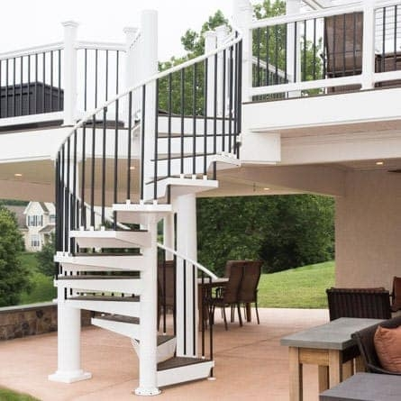 Spiral Staircases For Decks Patios Paragon Stairs | Diy Outdoor Spiral Staircase | Small Space | Before And After | Backyard | Half Circle | Metal