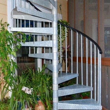 Spiral Staircases For Decks Patios Paragon Stairs   Spiral Stairs Off Deck   Railing   Wood Deck   Metal   Stair Case   Stairway