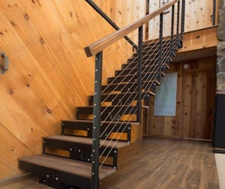 Straight Staircase Stringer Types Paragon Stairs | Steel Stair Stringer Design | Structural | Simple | Step | Free Standing | 3 4 Wood Stringer