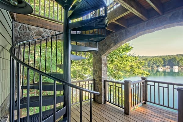 Outdoor Spiral Staircases Weatherproof Paragon Stairs   Exterior Spiral Staircase Cost   Spiral Stair Case   Deck   Handrail   Iron   Metal