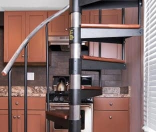 The Butler Adjustable Step Height Spiral Stairs Paragon Stairs | Flexible Handrail For Spiral Staircase | Staircase Ideas | Stair Kit | Loft Stairs | Stair Parts | Modern Staircase
