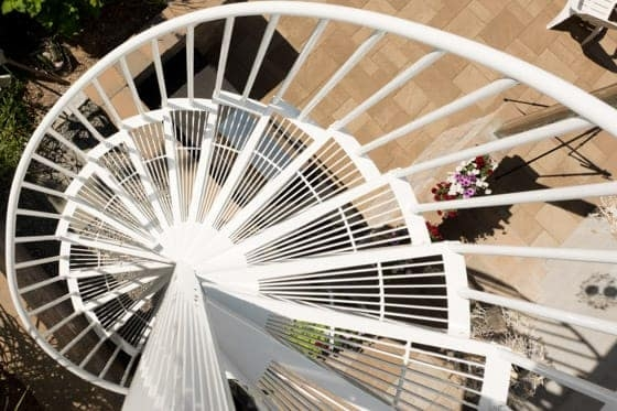Spiral Staircase Dimensions Sizes Paragon Stairs | Installing A Spiral Staircase | Bottom | Rectangular | Alcove | 20 Step | Circular