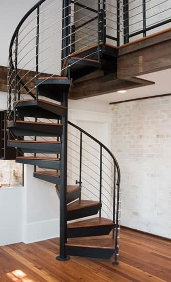 Compact Stairs For Small Spaces Paragon Stairs | Staircases For Small Cottages | Open | Small Footprint | Skinny | Corner | Wooden