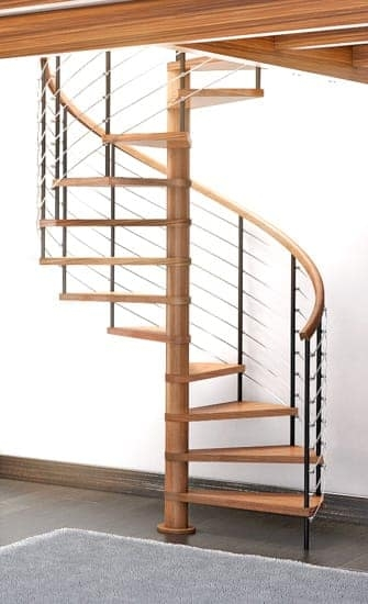 Wood Staircases Straight Spiral Paragon Stairs | Spiral Staircase Wood Treads | Arke | Design | Checker Plate | Platform Stair | Aluminum