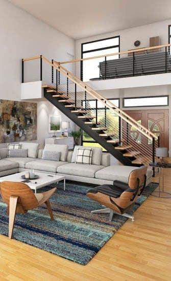 Metal Staircases Prefab Indoor Outdoor Paragon Stairs | Metal Staircases For Homes | Beam | Stainless Steel | Support | Statement | Metallic