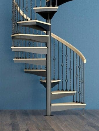 Spiral Staircases Prefab Custom Designs Paragon Stairs | Metal Spiral Staircase Cost | Stair Case | Stair Treads | Iron | Stainless Steel | Deck
