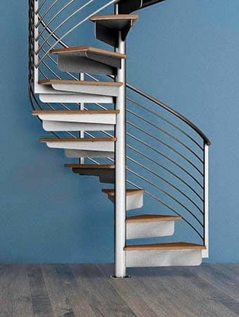 Spiral Staircases Prefab Custom Designs Paragon Stairs | Ready Made Outdoor Steps | Inexpensive | Single | Grey Composite Decking | Wooden | Support