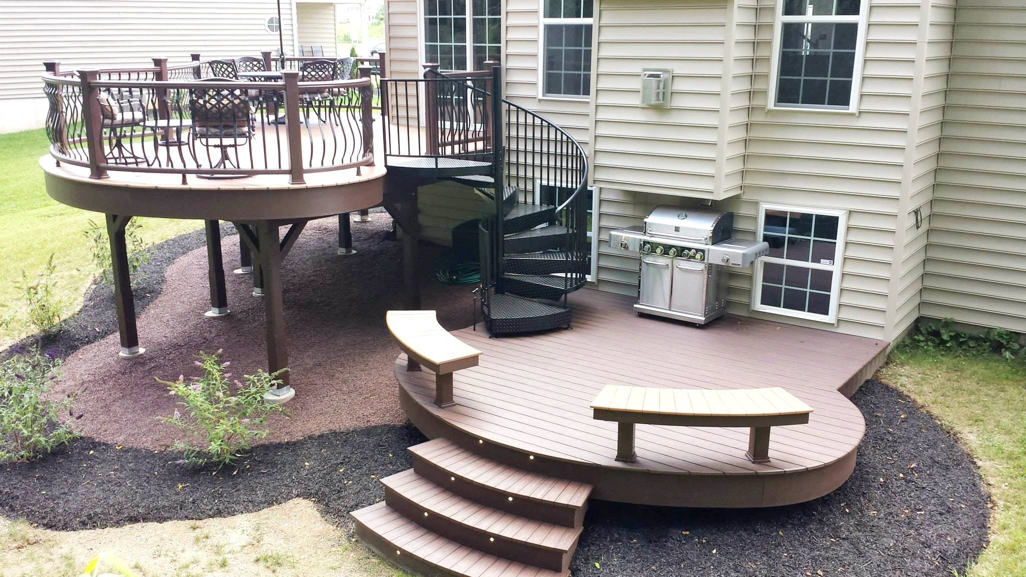 Five Weekend Diy Deck Projects Salter Spiral Stair | Diy Outdoor Spiral Staircase | Small Space | Before And After | Backyard | Half Circle | Metal