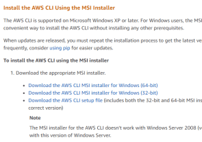 How to install and configure AWS CLI on Windows and Linux