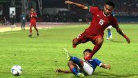 Saddil Ramdani menjadi pemain pengganti di Timnas Indonesia U-23.