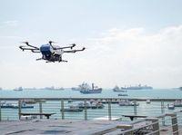 Airbus Mulai Uji Coba Pengiriman Barang di Pelabuhan Pakai Drone