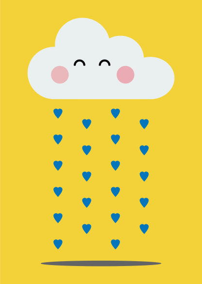 Happy Rain Cloud Print