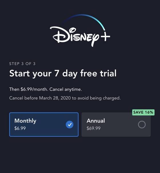 Disney plus free trial