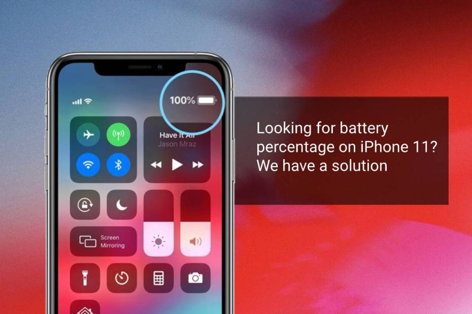 battery percentage iphone 11