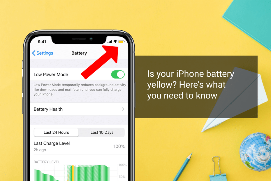 iphone battery is yellow