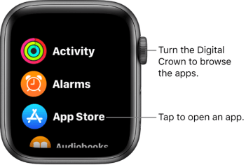 apple watch list view