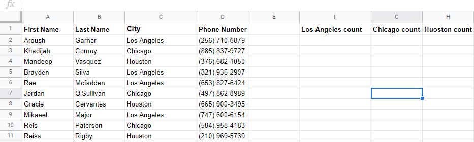 google sheets formulas count if