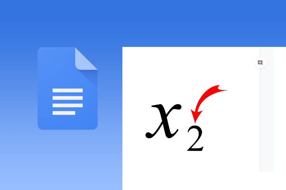 subscript in google docs