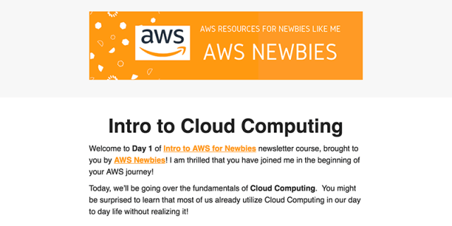 Intro to AWS for Newbies